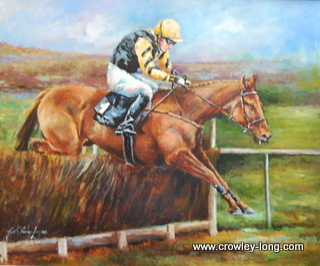 Patrick Mullins and Back in Focus, Cheltenham 2013 ( 20 x 24)