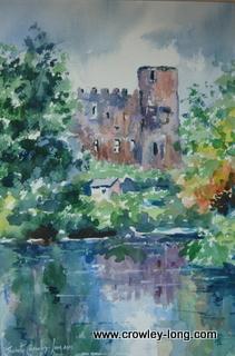Castle reflections, Carlow <p style=&quot;font-size:12pt;&quot;>(SOLD)</p>
