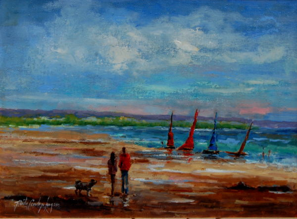 "Walking Out, Rosslare (12 x 16"")"