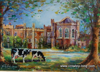 Grazing in the Beeches, Clongowes <p style=&quot;font-size:12pt;&quot;>(SOLD)</p>