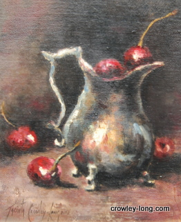 "The Cherry Pot <p style=""font-size:12pt;"">(SOLD)</p>"