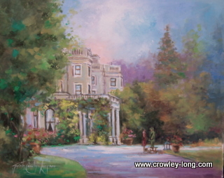 "The Port Cochere Entrance, Farmleigh (16 x 20"")"