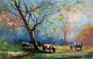 Morning Pasture(8 x 12 inches)