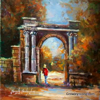 Oak Park Gate, Carlow (8 x 8 inches) €220