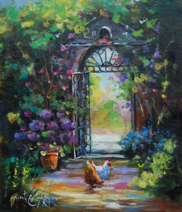 "Up the Garden Path  <p style=""font-size:12pt;"">(SOLD)</p>"