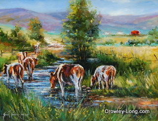 "'Til the Cows Come Home  <p style=""font-size:12pt;"">(SOLD)</p>"