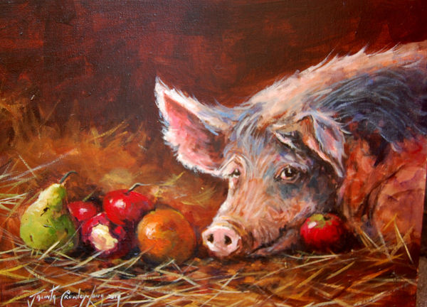 Ham-Let.....,To Eat or Not to Eat (12x 16 inches)