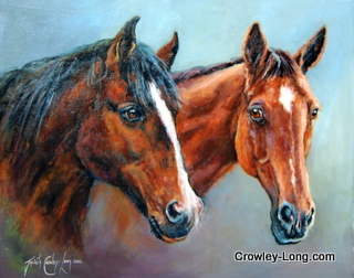 Stable Companions, Henry and Betsy (SOLD)