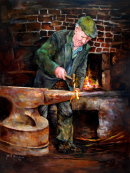 Mr Whitty, the Blacksmith (30x40ins) €2200