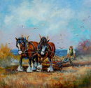 Ploughing the Cliff Field (SOLD)