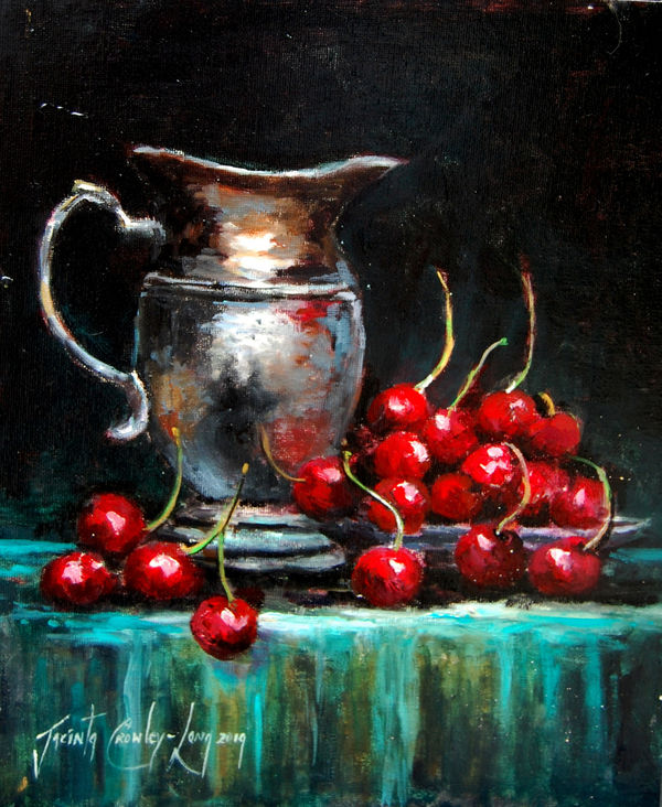 Silver Cherries (SOLD)