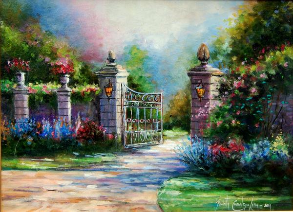 "The Main Gates: Curb Appeal (12 x 16"")"