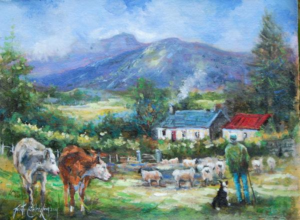 "The Hill Farmer (12 x 16"")"