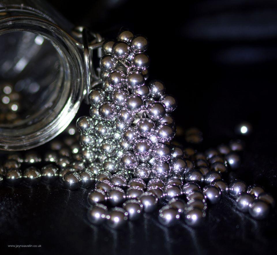 Silver ball bearings