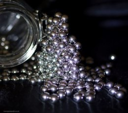 Silver ball bearings