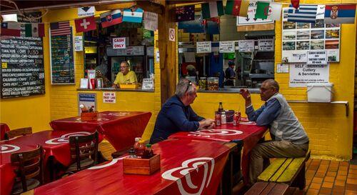 False Bay - Kalky's Restaurant, South Africa