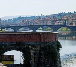 Florence - View towards the Ponte Vecchio