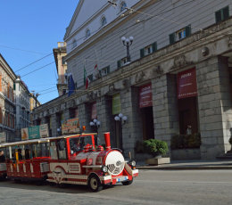 Genoa - 'Pippo' the tourist train