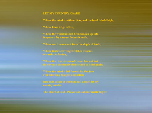 Let My Country Awake - Rabindranath Tagore