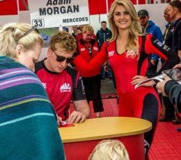 Signing Autographs for future racers... Knockhill 2017