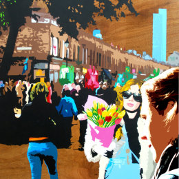 (SOLD)  Columbia Road Flower