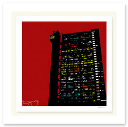 TRELLICK TOWER RED SCREENPRINT