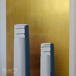 Chimneys Gold leaf (Battersea) Framed