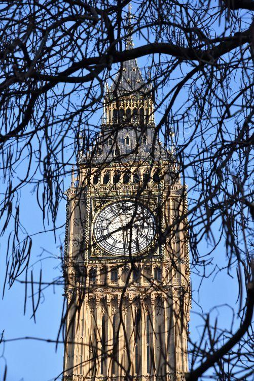 Big Ben in January