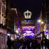 Carnaby St London lights exhibition for Bohemium Rhapsody
