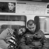 Sleeping on the tube