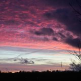 Sunset January opposite my house