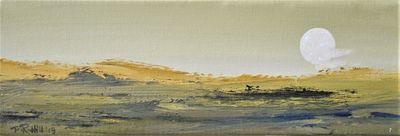 An Unstable Sun Rising Over A Desert Landscape