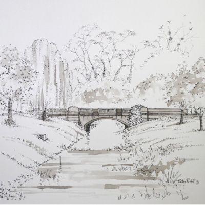 Bridge over the River Eau at Scotter
