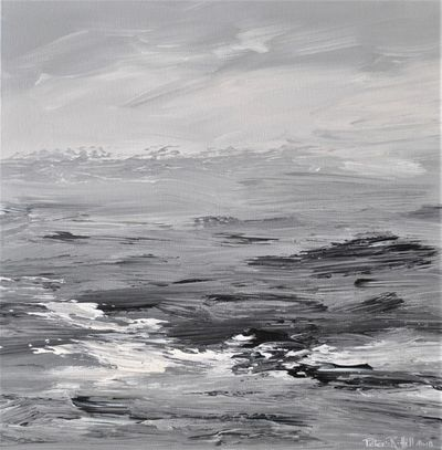 Waves On A Grey Shore