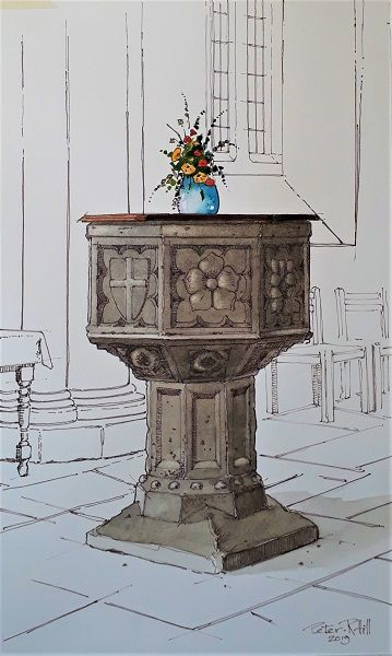 The Font in St Peter's Scotter