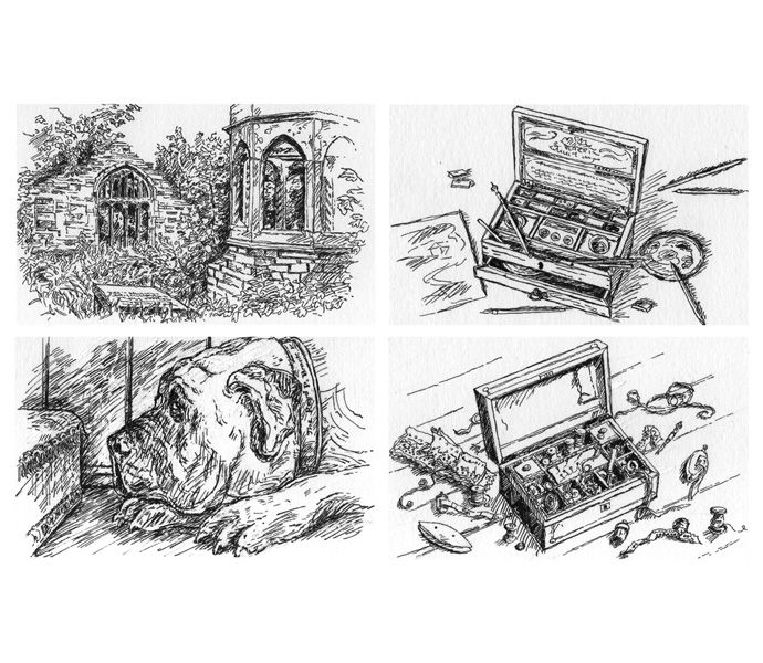 'The Bronte Yearbook' -  Weidenfeld & Nicolson - four small illustrations