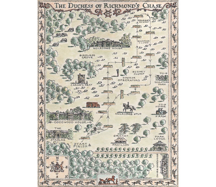 'Duchess of Richmond's Chase' - map for Goodwood Estate