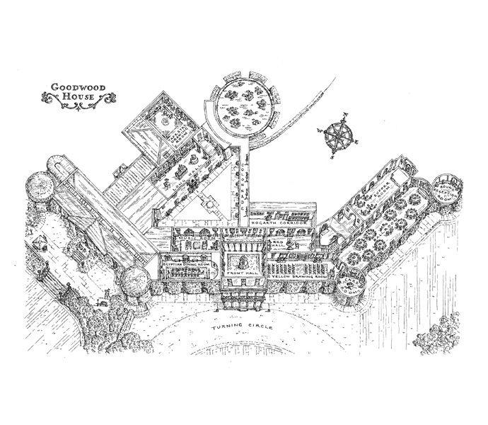 Goodwood House - floor plan for wedding brochure
