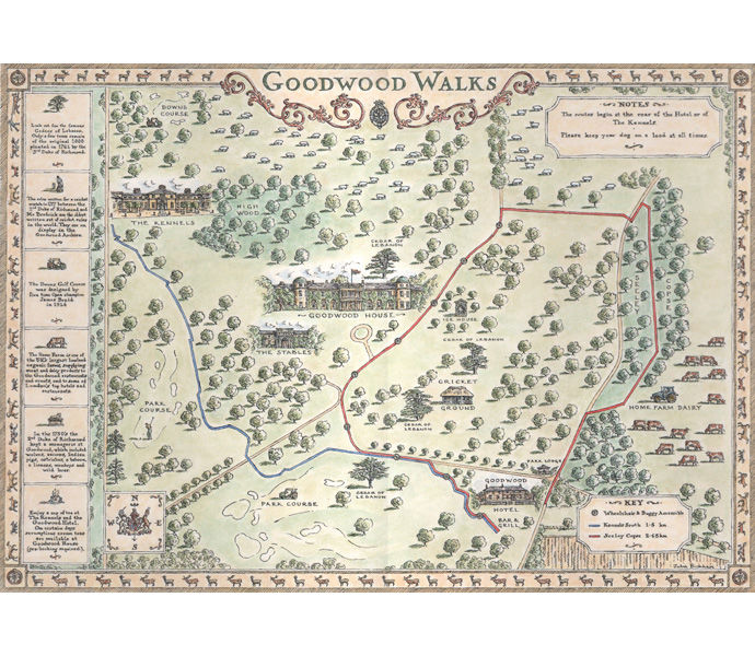 'Goodwood Walks' - main map