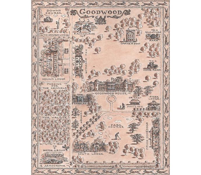 Hound Lodge, Goodwood map