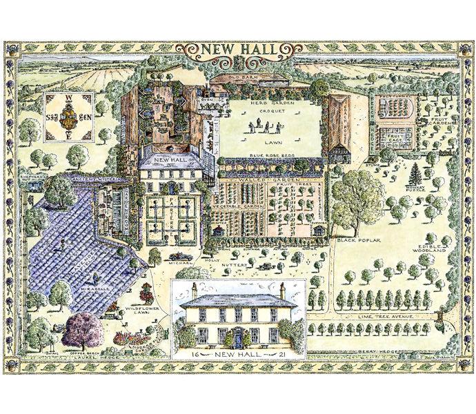 'New Hall' garden map