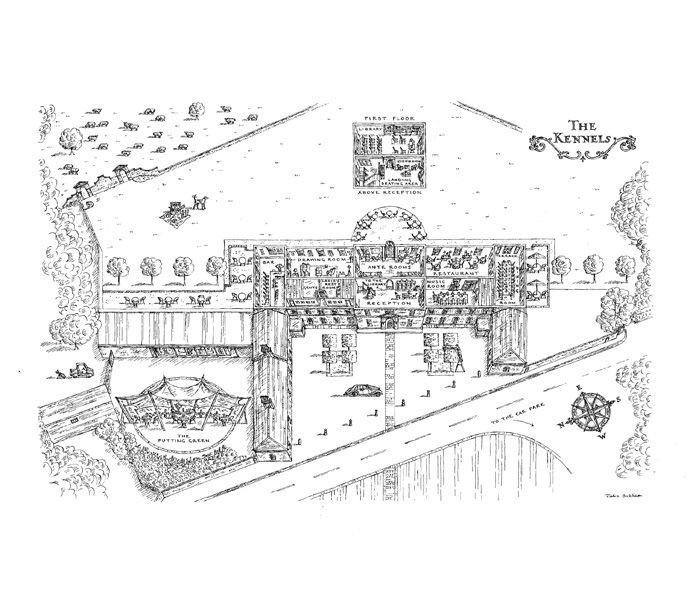 The Kennels, Goodwood - floor plan for wedding brochure