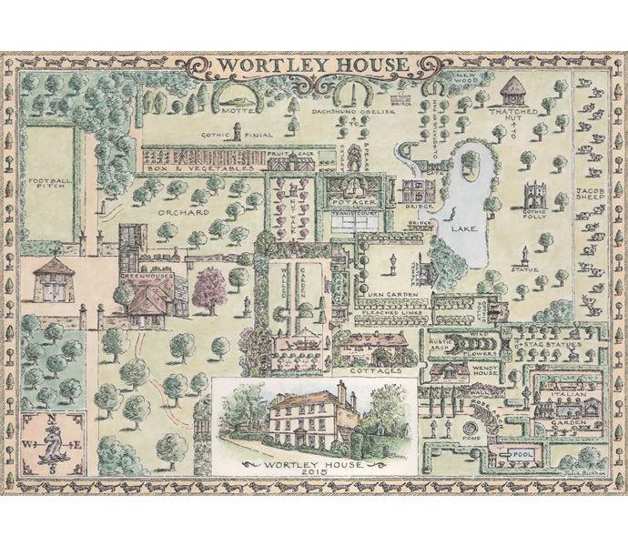 'Wortley House' garden map