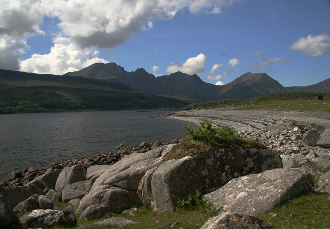 ....now heading towards Elgol and lingering on the shore of Loch Slapin with Blaven in the background