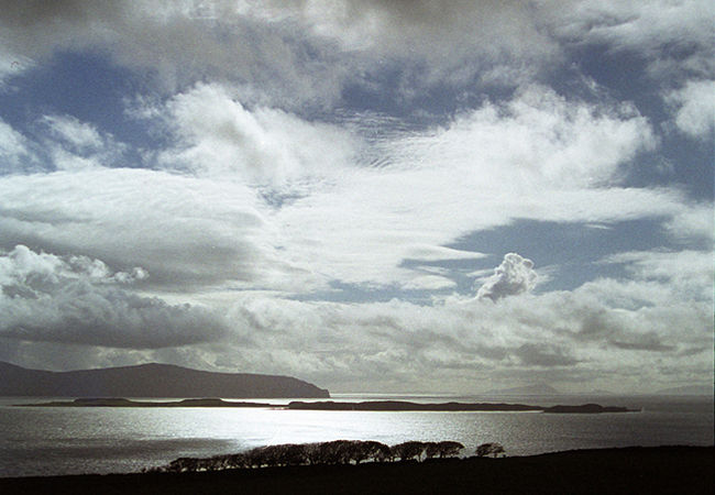 Storm clouds over the Minch, seen from between Fasach and the War Memorial