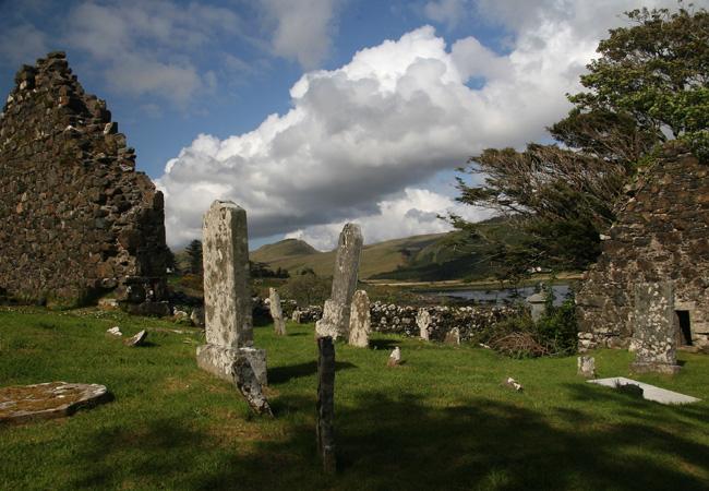 St Maelrubha's Chapel by Loch Eynort has a legend of its own