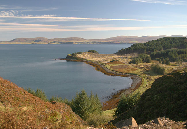 Scorr bay looking south and Loch Snizort