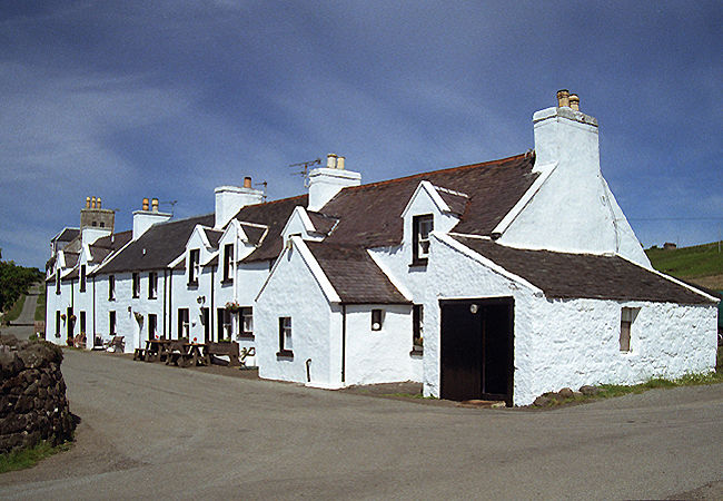 Lochbay Seafood restaurant and south Stein