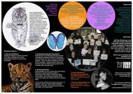 'Drawing for Endangered Species'  Workshops Brochure