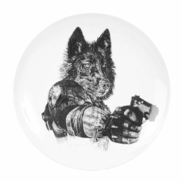 'Revenge', Wolves Limited Edition Fine English China Coupe Plate